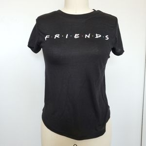 NWOT Friends Graphic T-Shirt Juniors XS Black